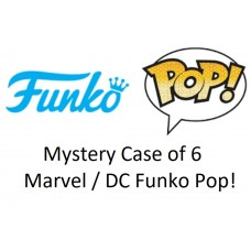 Mystery Case of 6 Marvel / DC Funko Pop! Vinyl Figurines